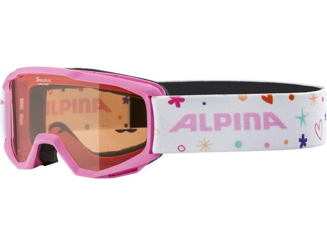 Alpina Piney Masque Enfant, rose-rose/orange